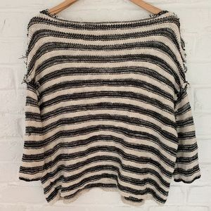 Free People Sweaters - Free People Black Spells Trouble Pullover Sweater